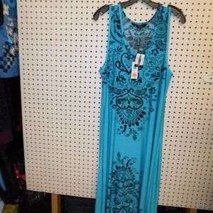 NWT Women's Sleeve Less Maxi Dress By Charlie